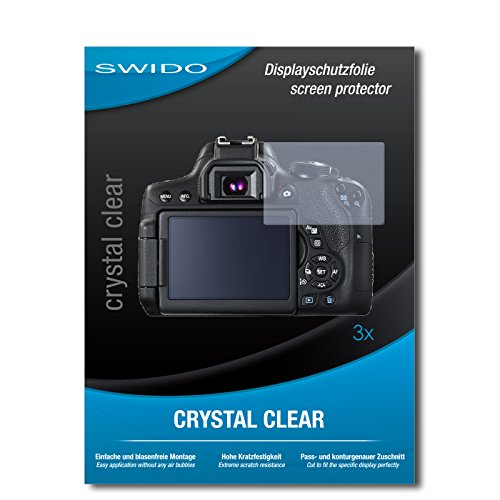 Galleria fotografica 3 x SWIDO Crystal Clear Pellicola protettiva per Canon EOS 750D / 750-D - Protezione cristallina e resistente per il display! QUALITA' PREMIUM - Made in Germany