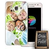 dessana Eigenes Foto Transparente Silikon TPU Schutzhülle 0,7mm dünne Handy Tasche Soft Case für Samsung Galaxy A3 (2014-2015) Personalisiert Motiv