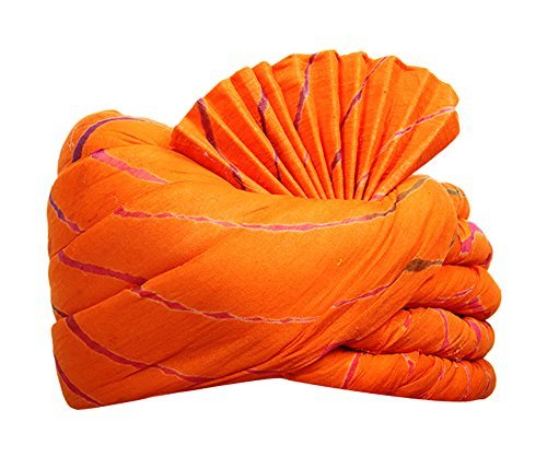 Shahi safa Unisex Cotton Turban (Orange, 9 Meters)