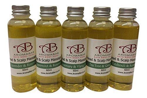 Huile De Massage Tête & Cuir Chevelu Ensemble Cadeau (5 x 60ml) Huiles nourrissantes avec pure huiles essentielles