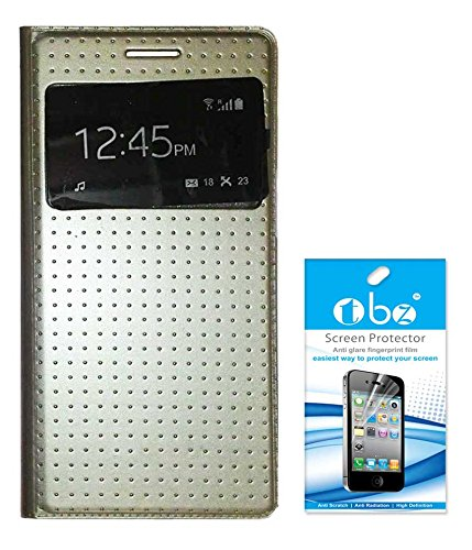 TBZ S-View Dotted Flip Cover Case for Samsung Galaxy Grand 2 with Screen Guard -Golden  available at amazon for Rs.379