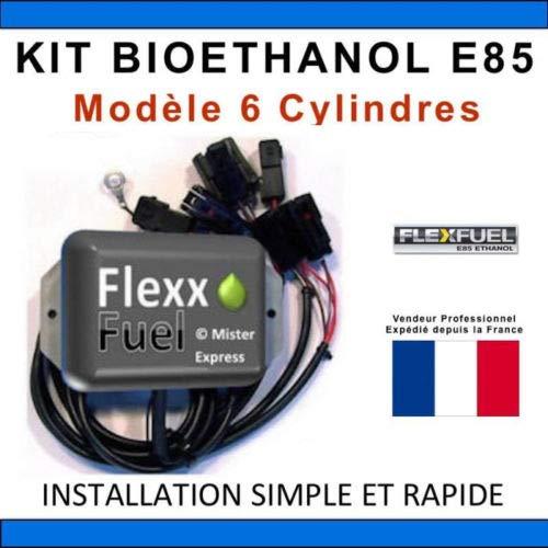 Kit Ethanol Flex Fuel - E85 - Bioethanol - 6 Cylindres + Interface de Diagnostic ELM327 - Compatible avec Renault, Peugeot, Citroen, Ford, BMW, Audi. (Nippon Denso)