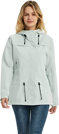 TOKY Giacche da pioggia impermeabili da donna antivento traspirante leggero con cappuccio impermeabile