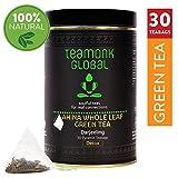 Teamonk Darjeeling Organic Green Tea for Weight Loss, 30 Teabags | 100% Natural