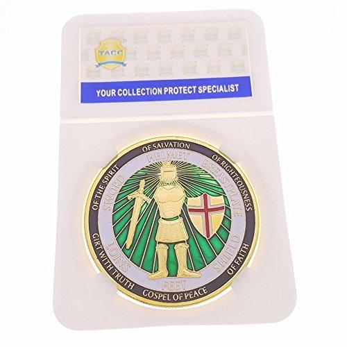 TACC Sammlermünzen Souvenir-Medaille Die Rüstung Gottes Krieger Waffen Ritter Schwert (Dollar Münze Werte)