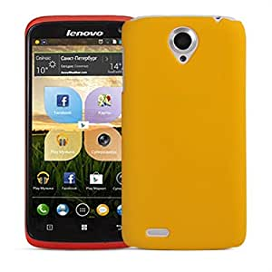 Wow Matte Rubberized Finish Hard Case For Lenovo S820 -yellow