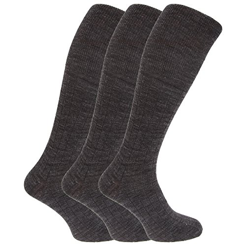 8715e2d46b56 Chaussettes hautes (3 paires) - Homme (39-45 EUR) (Gris