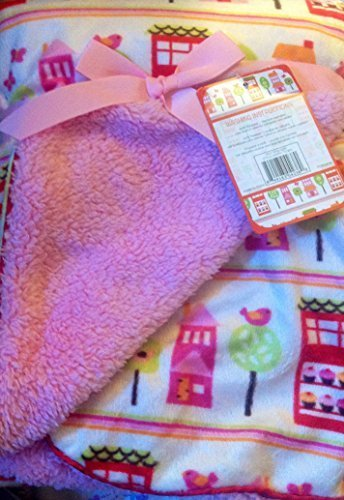 super-soft-sherpa-baby-blanket-30-x-40-reversible-pink-happy-town-by-sl-baby-collection