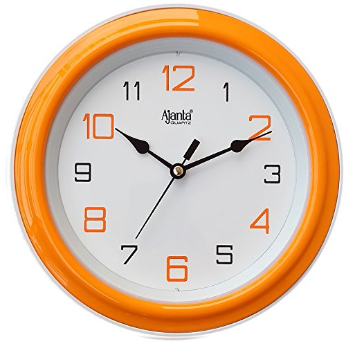 Ajanta fancy small size wall clock for home and office orange Round