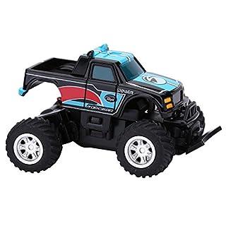 Alomejor Spielzeug Ferngesteuertes Auto, 27MHz / 40MHz Mini-Fernsteuerungsauto SUV 4 Kanal-Hochgeschwindigkeitsmodell-Auto Toy Electric Racing Car für Kinder (Schwarz & Blau)