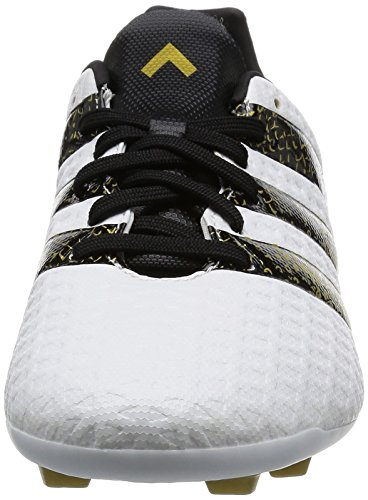 adidas Ace 16.4 Fxg J, Scarpe da Calcio Bambino, UK Bianco (Ftwr White/core Black/gold Met.)