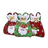 West See 3pcs Weihnachtstaschen Süßigkeiten Beutel Partytüten Geschenktasche Party Dekoration Weihnachtsmann Weihnachtsdeko (A)