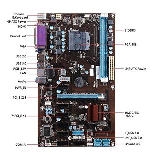 lzn 8 GPU LGA 775 DDR3 8-PCIE SATA Mining Motherboard Sockel Für ETH Bitcoin Bergleute