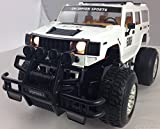 Radio Controlled Car Hummer Jeep 4x4 Monster Truck with Headlights LARGE 116 scale White