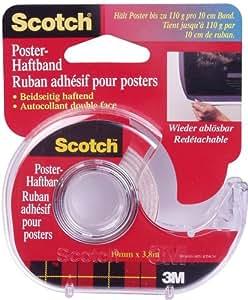 3M Ruban adhésif Scotch pour posters 19 mm x 3,8 m (Import Allemagne)