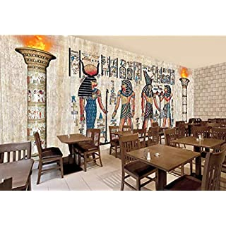 Wallpaper 3D Photo Wall Mural Retro Egyptian Mural, Living Room Tv Background Wall (W)130X(H)80Cm