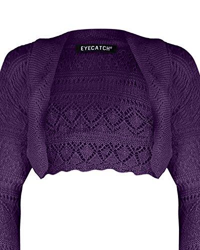 EyeCatch - Lilly Au Crochet Tricoté Haussement D'Épaules Pourpre
