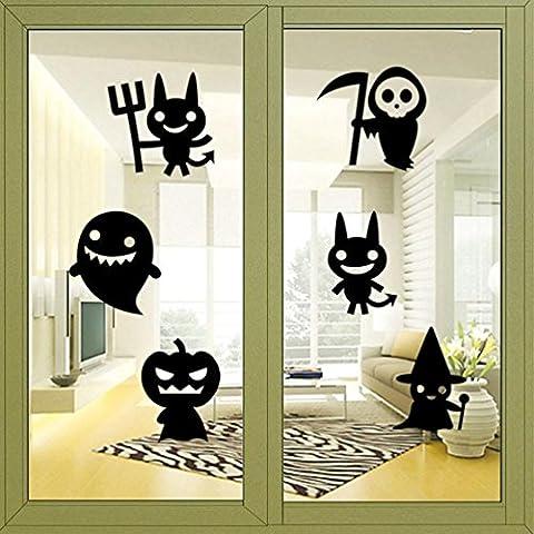 Clode® Felice Wall Sticker Halloween Finestra Della Decorazione Della Casa Della Decorazione Della Decalcomania
