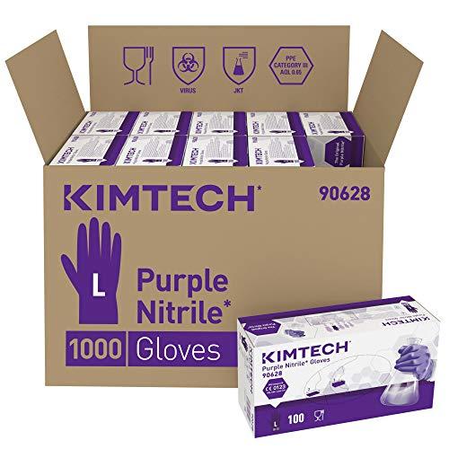 Kimtech Purple Nitrile beidseitig tragbare Handschuhe 90628 - Violett, L, 10 x 100 (1.000 Handschuhe)