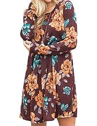 Mujer Vestido,Sonnena ❤ ❤ ❤ Sexy vintage floral impresión vestido de sin manga para prime mujer casual y moda…
