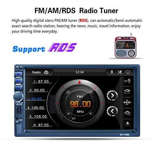 RK-7156G 2Din 7inch Voiture MP5 Bluetooth FM/RDS Autoradio HD Écran Tactile GPS Navigation Voiture Multimédia Lecteur Support USB TF