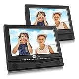 DVD Player Auto tragbarer Fernseher mit 2 10,1 Zoll Monitore für Mama Kinder hinter Kopfstützen mit TFT Display LCD Bildschirm zwei Halterung unterstützt USB SD für Flug Urlaub Camping Zuhause Schwarz CUtrip