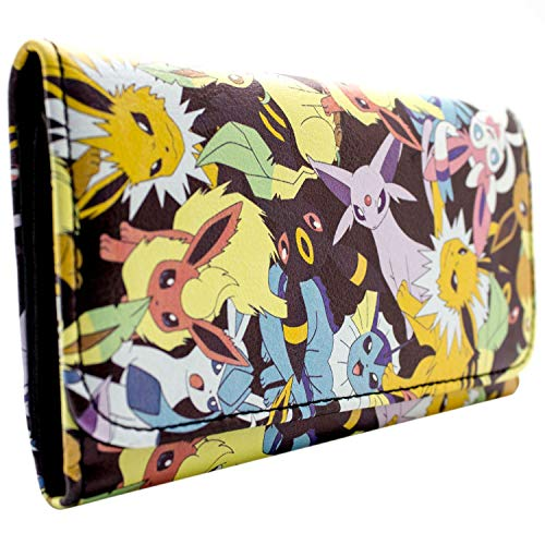 Nintendo Pokemon Eevee Evolutions Schwarz Portemonnaie ()