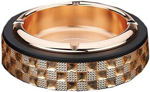 HXZB Posacenere in Acciaio Inox Diamond Adesivi Casa per Portacenere Creative Sigaretta per Casa Gli Uomini,oro 6fc8d9