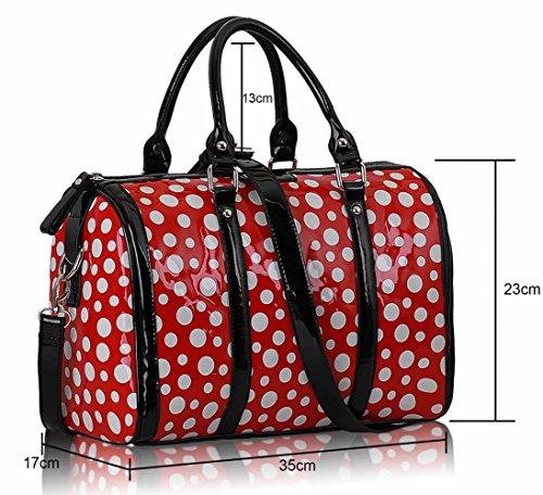 LeahWard® Femme Mignonne Mode Dot Sacs À Main Styliste Chic Qualité Sac LS0069 Rouge Dot