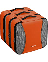 Gonex – 3 packs Organizador para maletas/Viaje Bolsas de Embalaje/Almacenaje Ultraligeros Multifuncionales Rip-Stop de Nylon