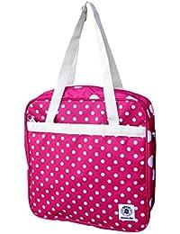 3a8cf9e7ea Borsa rosa pois bianchi INVICTA 3 in 1 mini rover smart shoulder & shop zaino  borsa tracolla 33x33x9,5cm borsa a…