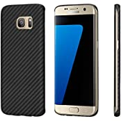 Samsung Galaxy S7 edge Hülle PITAKA Schutzhülle aus Aramid (Kugelsicheres Material) Dünne 0.65mm Hochwertige Schutzhülle, Schwarz/Grau