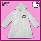 Hello Kitty Bademantel weiss mit Stickmotiv Morgenmantel, Größe Bademantel:104/110