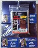 100 Ultra Pro Toploader + 100 Soft Sleeves - Ultra Clear - 4 Packs - Regular 3 x 4 - Top Loader - Magic: The Gathring - Yu-Gi-Oh!