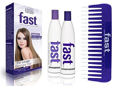 Nisim FAST Shampoo Conditioner Set, lässt Haare schneller wachsen und Kamm