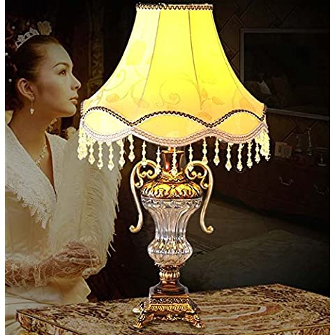 YM@YG Creativo breve europeo cristallo vetro tavolo lampada soggiorno, camera, hotel (18 * 53cm)