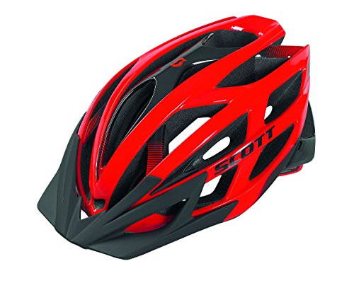 Scott Wit-Fahrradhelm L Rot/Schwarz