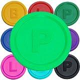 SchwabMarken 1000 Pfandmarken, Chips, Token Farbe Neon-Gr P mit den Buchstaben B P oder L in 14 Farben zum TOP-Preis