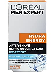 L'Oreal Men Expert Hydra Energy After-Shave Ultra-Cooling Fluid, Ice-Effekt, 100 ml