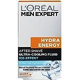 L'Oréal Men Expert Hydra Energy After-Shave Ultra-Cooling Fluid, kühlt frisch rasierte Männerhaut, Beugt Rötungen, Hautirritationen und Pickeln vor(100ml)