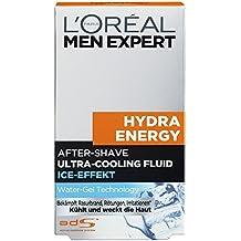 L'Oreal Men Expert Hydra Energy After-Shave Ultra-Cooling Fluid, bekämpft Rasurbrand und kühlt die Haut, 100 ml