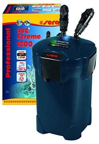 sera UVC-Xtreme 1200 - elektronisch steuerbarer Außenfilter für Aquarien bis 1200 Liter mit integrierten 5 Watt Amalgam (reduziert Krankheitserreger, Parasiten und Algenwuchs)