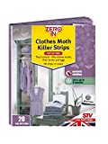 Zero In Clothes Moth Killer Strips (Scent-Free, Treats Clothing Moths, Larvae and Eggs and 6 Months Protection), 20 Strips