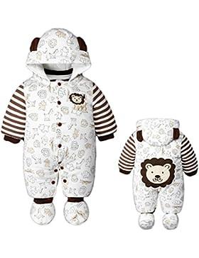 Vine Baby Weihnachten Strampelanzug Winteroverall kostüm lange Ärmel Strampler Weihnachtskostüm Unisex Kleinkinder...