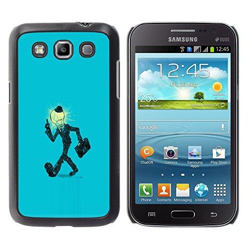 Bild Hartschalenkoffer PC Schutzhülle Hard Case Protective Cover for Samsung Galaxy Win I8550 / Glühlampe-Mann in der Klage / (Klage Für Halloween)