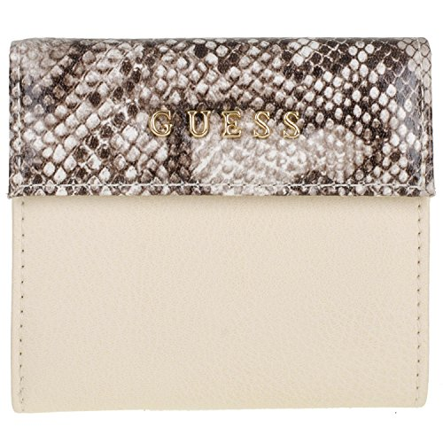 Guess Sissi SLG Mini Zip Wallet SISPP7358 Damen Geldbörse 10x10,5x2,5cm ivory multi (Mini Guess Damen)