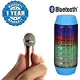 Captcha Portable Wired 3.5mm Mini Handheld Microphone Stereo Mic & Outdoor Portable Multifunctional Led Pulse Wireles Bluetooth Speaker Compatible With Xiaomi, Lenovo, Apple, Samsung, Sony, Oppo, Gionee, Vivo Smartphones (One Year Warranty)