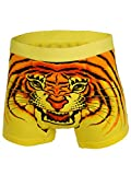 Search : Mens - Skull Red Eye - Tiger - Wolf - Leopard - Bat - Cow Animal Face Print Boxer Shorts Size M-XXL