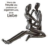 Casablanca Design Skulptur ' Relax ' Gußeisen 11 cm Figur Liebe Paar