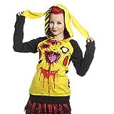 Poizencupcake Cult Chu Chu Kapuze Gelb Schwarz Pikachu Goth Emo Punk Damen - Gelb, Small